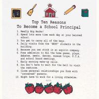 Top Ten Reasons To Become a School Principal Sweatshirt