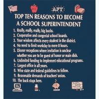 Top Ten Reasons To Become a School Superintendent Sweatshirt