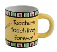 Teachers Touch Lives Forever Mug