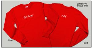Wear a Got Hope? I Do.™ Long Sleeve T-Shirt. A portion of all proceeds goes to cancer charities.
