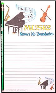 Music Knows No Boundaries - Note Pad and Pencil Set