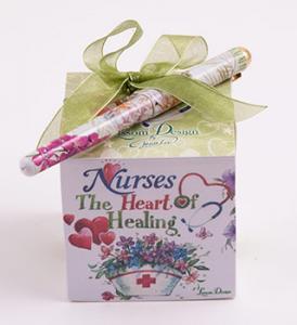 Nurses The Heart of Healing Note Cube w/ Pen
