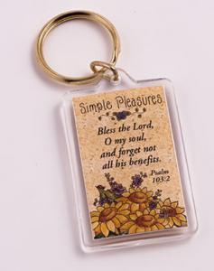 Simple Pleasures key ring