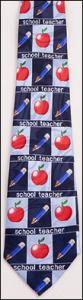 Teacher Tie w/Apple