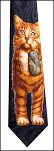 T-42  Cat & Mouse Navy Tie