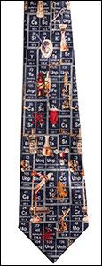 T-57 Periodic Table Tie