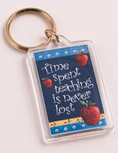 Time spent teaching is never lost key ring