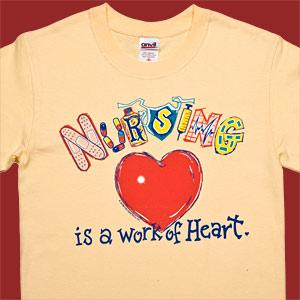 Nursing is a Work of Heart T-Shirt
