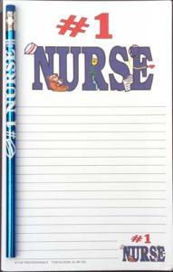 #1 Nurse - Note Pad and Pencil Set