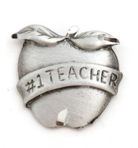 #1 Teacher Pewter Lapel Pin