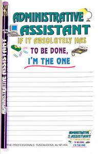Administrative Assistant - Note Pad and Pencil Set