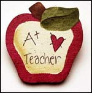 A+ Teacher Apple Pin