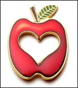 Apple / Heart cut out Lapel Pin
