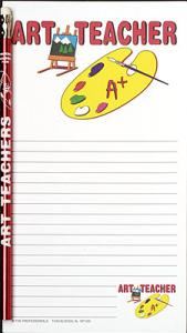 Art Teacher Notepad Set   - Note Pad and Pencil Set