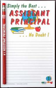 Simply the Best... Assistant Principal - Note Pad and Pencil Set