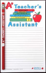 A+ Teacher's Assistant - Note Pad and Pencil Set