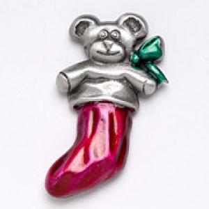 Stocking w/Bear Pin
