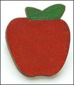 Personalized  Small Apple Pin