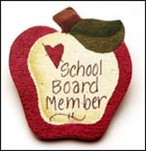 School Board Apple Pin