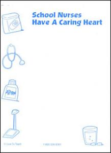 School Nurses Have a Caring Heart note pad