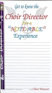 Choir Director Note pad Set  - Note Pad and Pencil Set