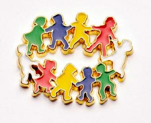 Circle of Children color  Lapel