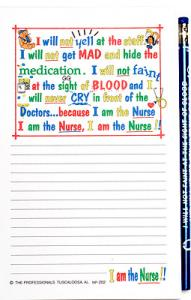 I Am the Nurse - Note Pad and Pencil Set