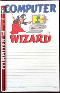 Computer Wizard - Note Pad and Pencil Set
