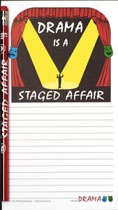 Drama Notepad Set - Note Pad and Pencil Set