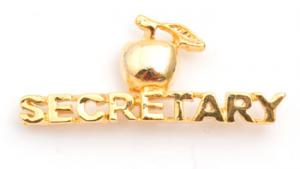 Secretary Golden Apple Lapel Pin