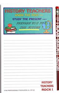 History Teacher - Note Pad and Pencil Set