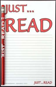Just Read - Note Pad and Pencil Set