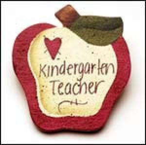 Kindergarten Teacher Apple pin