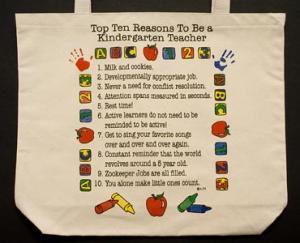 Kindergarten Teacher  Top 10 Totebag
