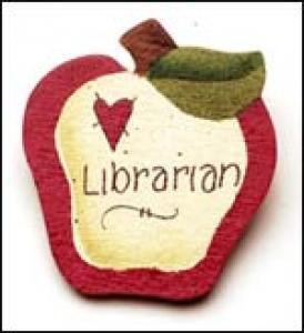 Librarian Apple Pin
