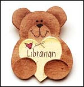 Librarian Bear Pin