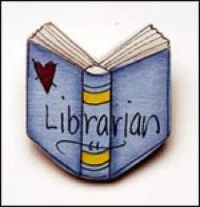 Librarian Book pin