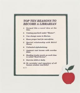 Top Ten Reasons to Become a Librarian Mat