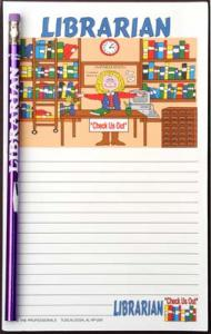 Librarian - Note Pad and Pencil Set