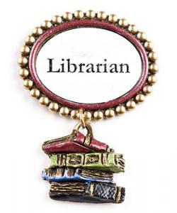 Librarian Really Stack Up pin.