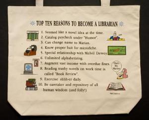 Librarian  Top 10 Totebag