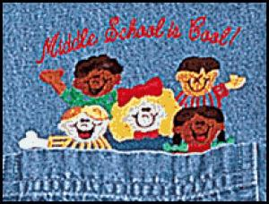 Middle School Is Cool! Denim Shirt    SALE Only $15.00
