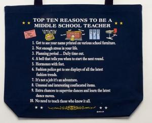 Middle School Teacher Top 10 Totebag