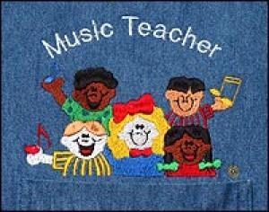 Music Teacher Denim Shirt    SALE Only $10.00