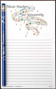 Music Teachers are Noteworthy - Note Pad and Pencil Set