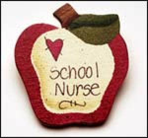School Nurse Apple Pin