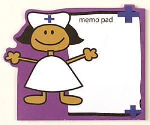 Ethnic Stick Nurse Purple note pad