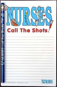 Nurses Call the Shots - Note Pad and Pencil Set