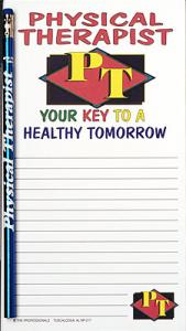 Physical Therapist Notepad Set  - Note Pad and Pencil Set