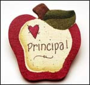 Principal Apple Pin
